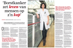 (Nederlands) Borstkanker zet leven op z'n kop – AD Interview Carmen van der Pol